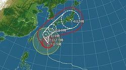 ノロノロ台風19号、関東周辺は連休明けに影響か