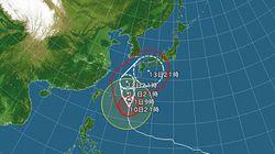 台風19号 海面温度が高く、勢力が衰えず