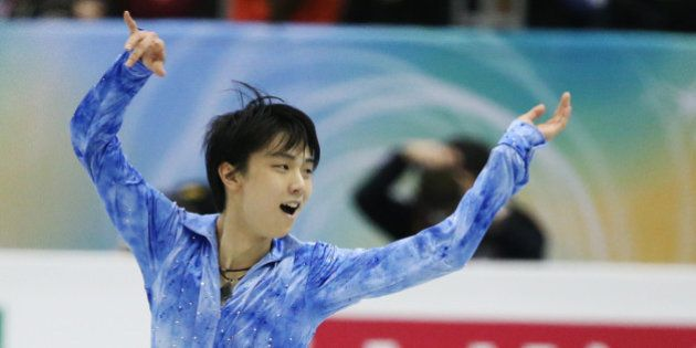FUKUOKA, JAPAN - DECEMBER 05: Yuzuru Hanyu of Japan competes in the men's short program during day one...
