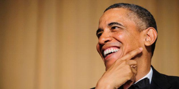 U.S. President Barack Obama smiles during the White House Correspondents' Association (WHCA) dinner in...