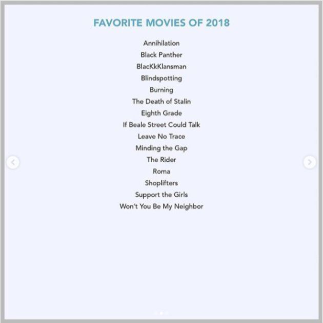 favorite movies of
