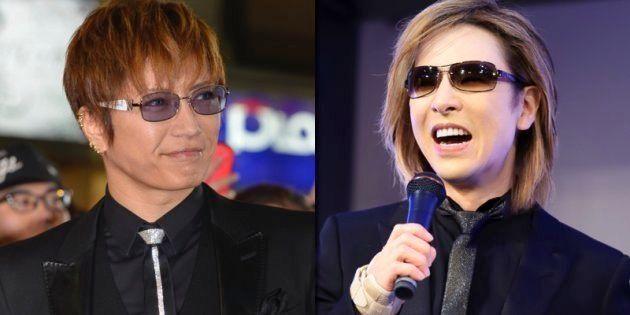 GACKT(左)とYOSHIKI(右)