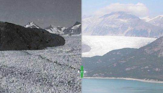 溶ける氷河、干上がる湖:ビフォーアフター写真集