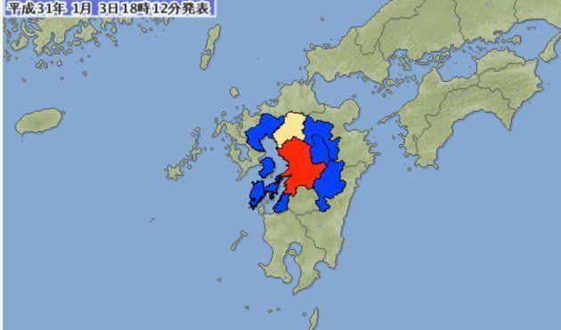 熊本で震度6弱