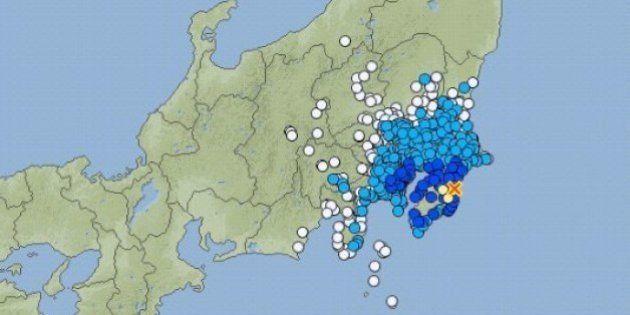 【地震情報】千葉県で震度4 東京・神奈川などで震度3
