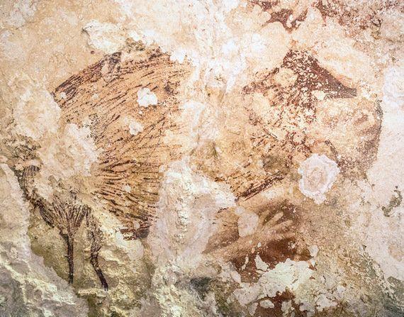世界最古と分かった、インドネシアの洞窟絵画