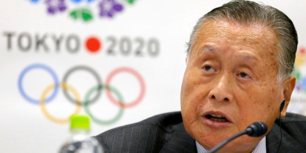 Tokyo 2020 Olympics President Yoshiro Mori speaks during a press conference for the IOC - Tokyo 2020...