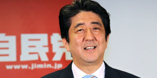 Shinzo Abe, Japan's prime minister and president of the Liberal Democratic Party (LDP), attends a news...