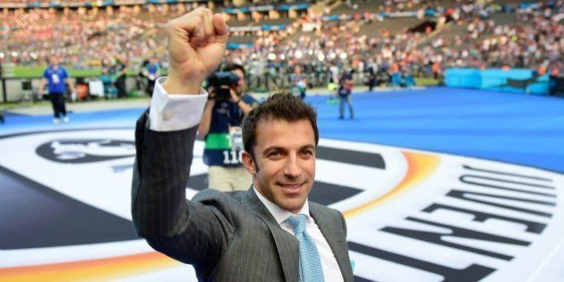 Former Juventus player Alessandro del Piero arrives at the stadium prior to the UEFA Champions League...
