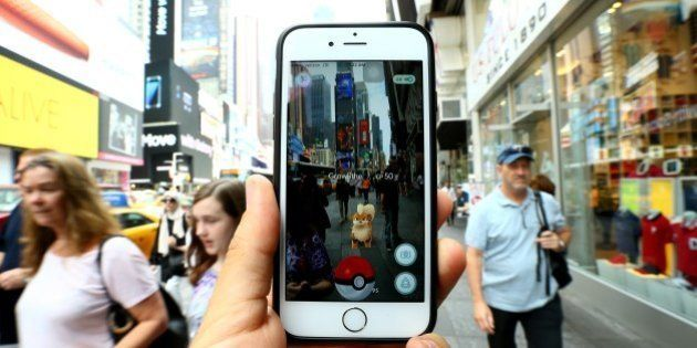 NEW YORK, NY - JULY 13: A Pokemon Go user plays Pokemon GO game in New York City, NY on July 13, 2016....