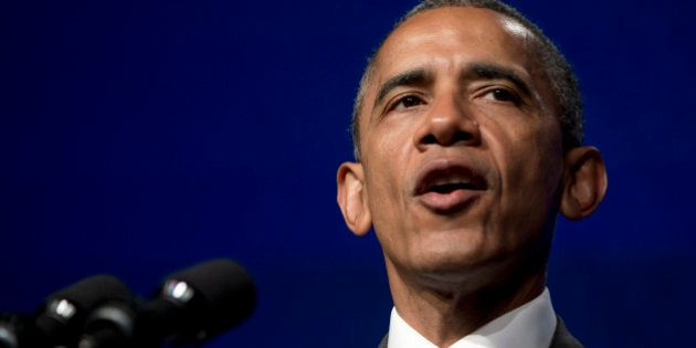 President Barack Obama speaks at the Catholic Hospital Association Conference about healthcare reform,...