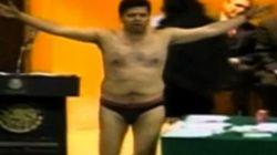 国会議員が裸で新エネルギー法案に抗議:メキシコ