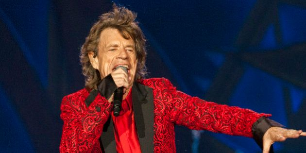 FILE - In this July 4, 2015 file photo, Mick Jagger of the Rolling Stones performs at the Indianapolis...