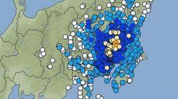 【地震情報】さいたま・横浜・千葉・茨城などで震度4 関東でやや強い地震