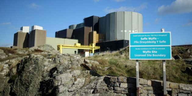 TREGELE, UNITED KINGDOM - OCTOBER 23: A general view of the Wylfa nuclear power station on October 23,...