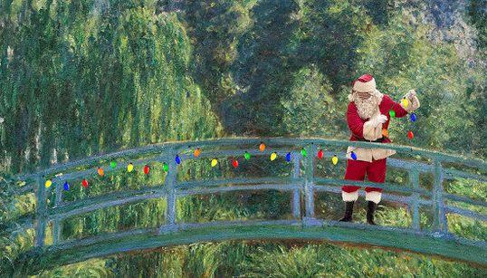 「サンタの登場」で、さらに傑作になった名画10選