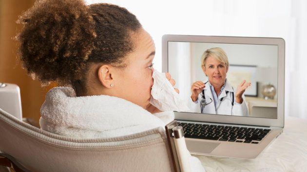 写真はオンライン診療のイメージ画像です