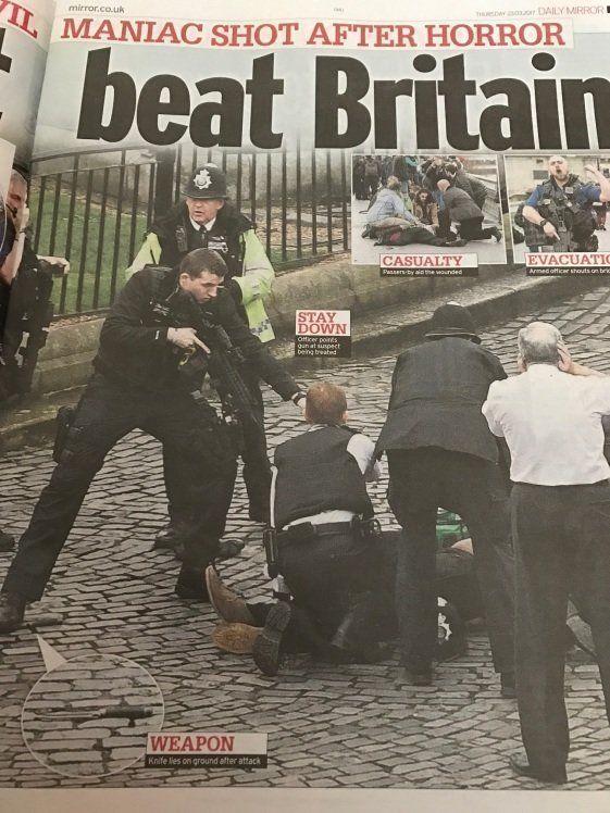ロンドンテロ 5人死亡、40人が負傷 ー新聞紙面はどんな感じか