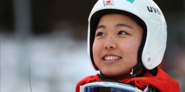 HINTERZARTEN, GERMANY - DECEMBER 21: Sara Takanashi of Japan smiles after winning at the Ladies Ski Jumping...