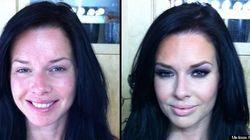 【写真】米国セクシー女優の化粧による変身前と変身後の比較画像がすごい