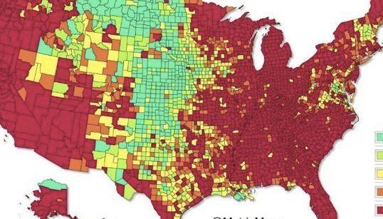 アメリカの失業率がこの24年でどう変化したか10秒でわかる地図