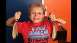 がん患者の子供を救うため、髪を長く伸ばした少年たち(画像)