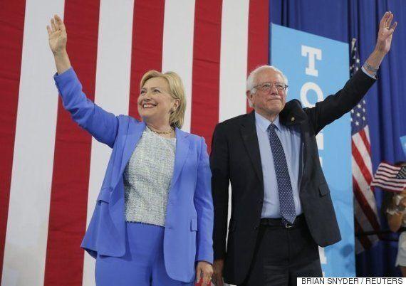 バーニー・サンダース氏、「ヒラリー・クリントン氏を次期大統領にするために何でもやる」支持を正式表明
