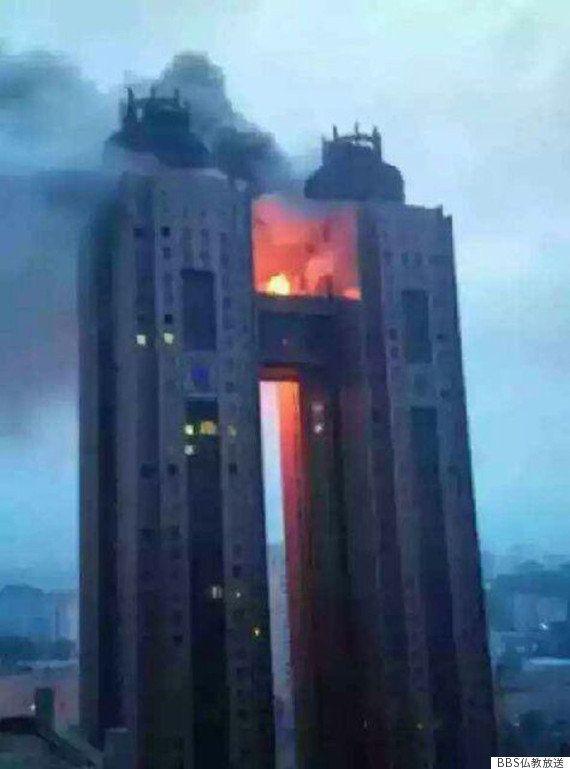 北朝鮮の高層ホテルで火災 インターネットも不通に(写真)