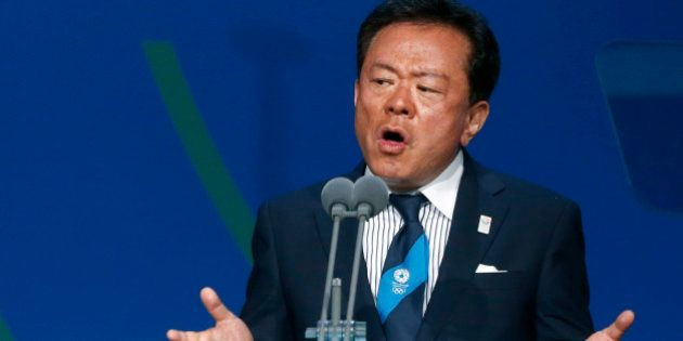 Governor of Tokyo Naoki Inose speaks during the presentation by the Tokyo 2020 bid committee to host...