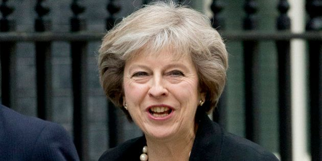 British Home Secretary and leadership candidate for Britain's ruling Conservative Party Theresa May arrives...