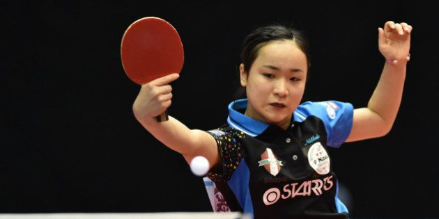 TOKYO, JAPAN - JANUARY 16: Mima Ito of Japan competes in the Women's Singles during day five of All Japan...