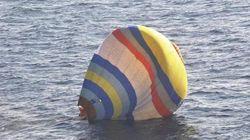 熱気球で尖閣侵入失敗、海上保安庁に救助される新春お笑い劇場