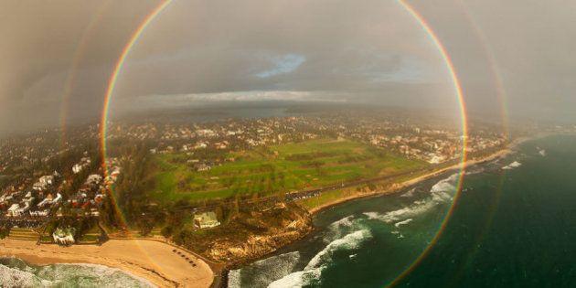 「円の虹」見たことある? では、オーストラリアで撮影された美しい画像をお見せしましょう