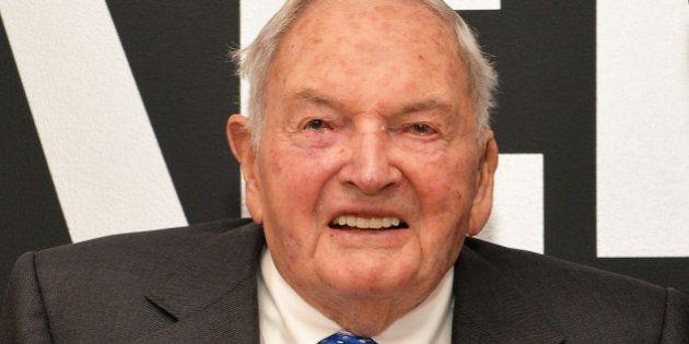 NEW YORK, NEW YORK - APRIL 07: David Rockefeller attends 2016 David Rockefeller Award Luncheon at Museum...