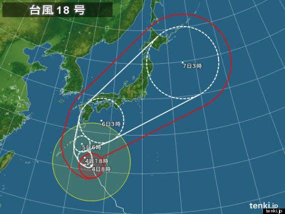 【台風情報】台風18号、樹木が根こそぎ倒れる猛烈な風。交通機関の混乱必至(相原恵理子)