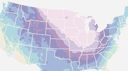 「南極より極寒」な領域が広がるアメリカの大寒波