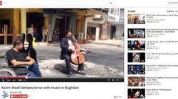 爆弾テロが起きたイラクのバクダッド。その現場で単身チェロを弾き始めた男性が話題に