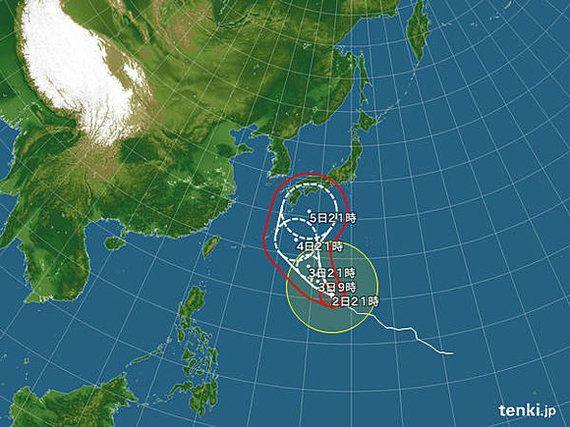 【台風情報】台風18号 本州への影響は