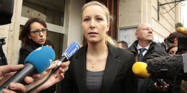 CARPENTRAS, FRANCE - DECEMBER 06: Marion Marechal-Le Pen vice President of the French far-right Front...