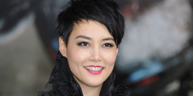 LONDON, ENGLAND - JULY 04: Rinko Kikuchi attends the European Premiere of 'Pacific Rim' at BFI IMAX on...