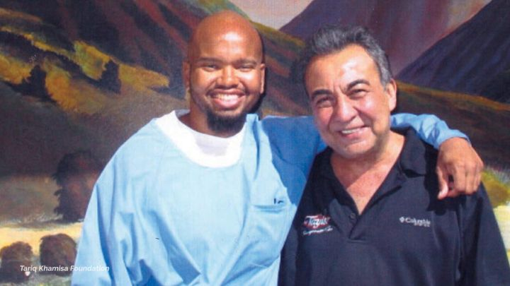 Tony Hicks and Azim Khamisa during one of Khamisa's visits to Hicks in prison.
