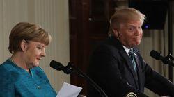 メルケル首相は難民問題の解決を訴え、トランプ大統領はそれを無視した