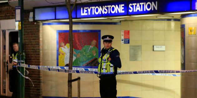 Police cordon off Leytonstone Underground Station in east London following a stabbing