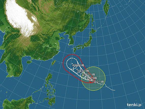 【台風情報】台風18号 気になる進路