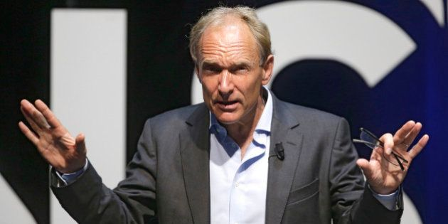 English computer scientist Tim Berners Lee, best known as the inventor of the World Wide Web attends...