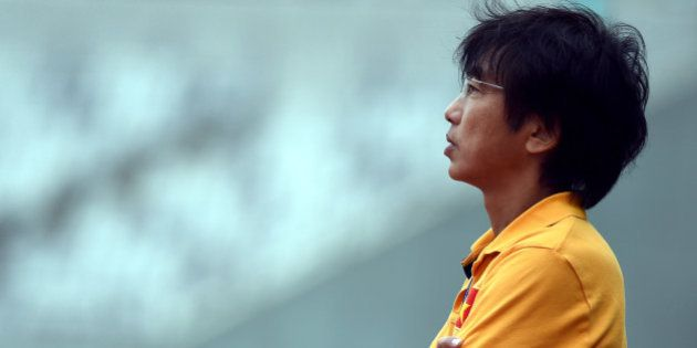 INCHEON, SOUTH KOREA - SEPTEMBER 26: Toshiya Miura coach of Vietnam looks on during the Football Mens...