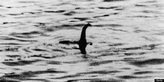 A view of the Loch Ness Monster, near Inverness, Scotland, April 19, 1934. The photograph, one of two...