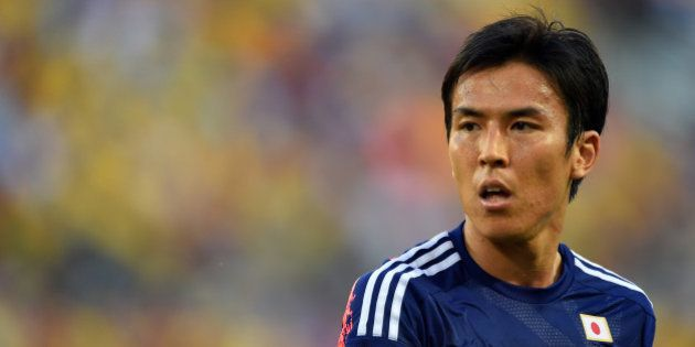 CUIABA, BRAZIL - JUNE 24: Makoto Hasebe of Japan looks on during the 2014 FIFA World Cup Brazil Group...