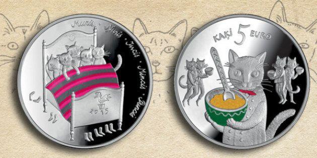 ラトビアで誕生した猫の銀貨が可愛い(画像・動画)