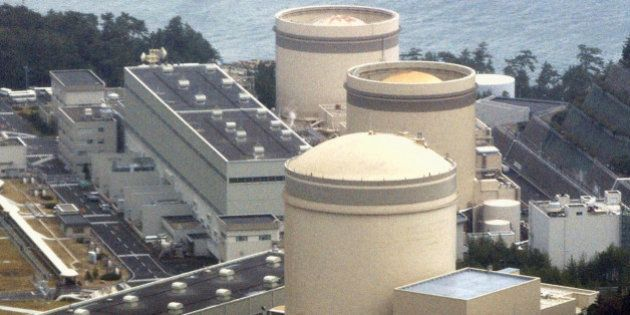 Treactor, foreground, of the Mihama Nuclear Power Plant at Mihama, northern Japan. Five people were seriously...